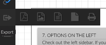 2.0 sidebar export options